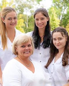 Beauty clinic group portraits